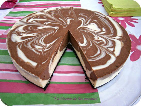Comparte Recetas - Tarta de Queso y dos Chocolates