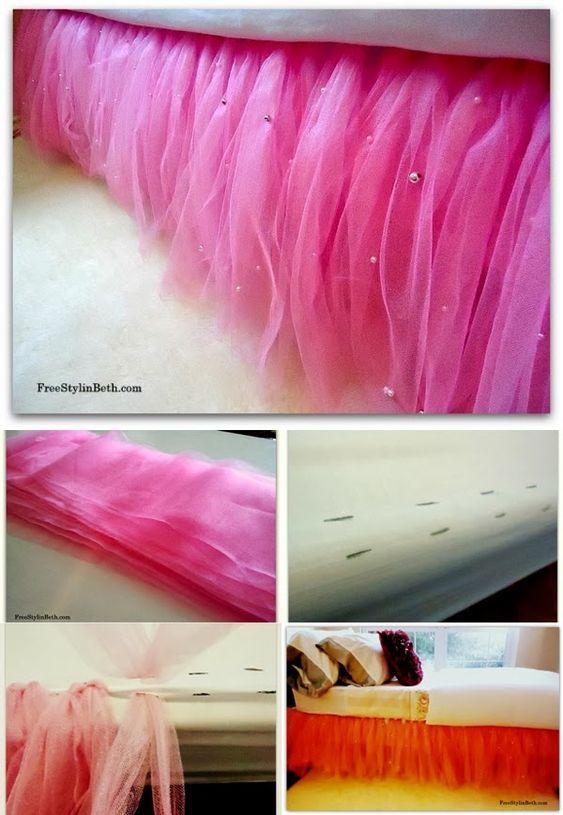 Tutu bed skirt tutorial - so sweet for a big girl room!