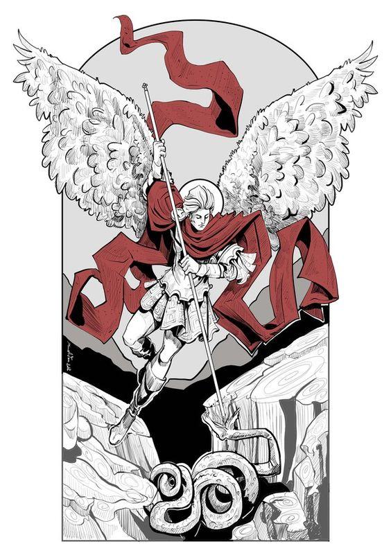 The Archangel by Mina Anton, via Behance
