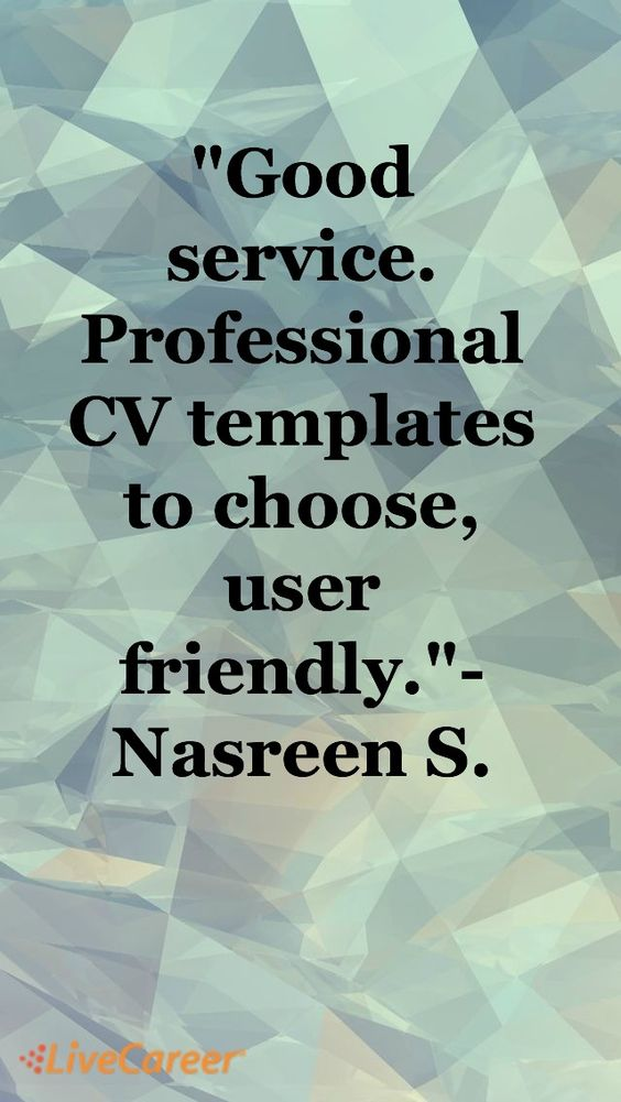 Good service Professional CV templates to choose, user friendly - livecareer cancel