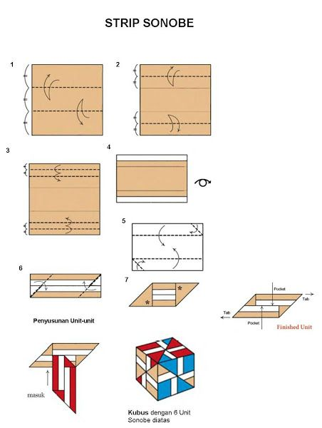 Klub Origami Indonesia: Box and other simple models - Fachri's blog