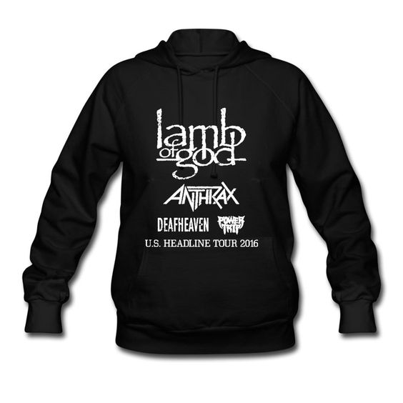Desic Fashion Lamb Of God Mark Lady's Original Hoodies Tee Black S -- Awesome products selected by Anna Churchill