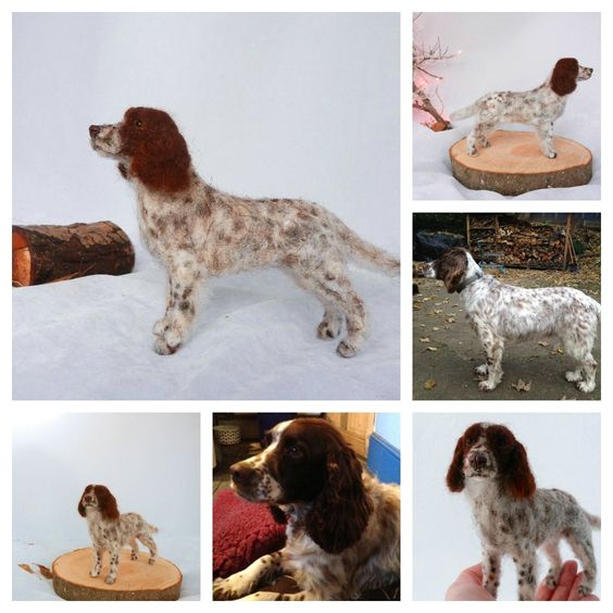needle felted springer spaniel Charley | by adore62