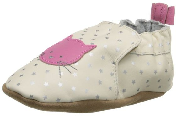 Robeez Cosmic Kitty Crib Shoe (Infant), Cream, 18-24 Months M US Infant