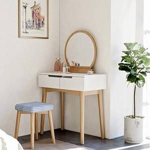 Betsy Dressing Table Set With Mirror Zipcode Design Size 128cm H X 40cm W X 80cm D In 2020 Aesthetic Room Decor Home Decor Bedroom Decor
