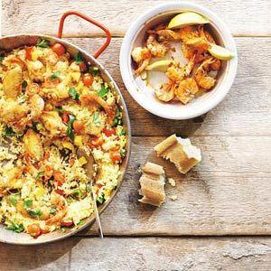 Recept - Goedgevulde paella met kip en gamba's - Allerhande
