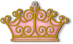 Glorious Princess Crown Hand Decorated Sugar Cookie Favor - $14.00 Each - Minimum 2 Cookies