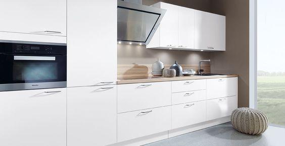 Schröder Küchen Landhaus Küchen BASIC POWER Silk optiwhite - ikea küchen angebote