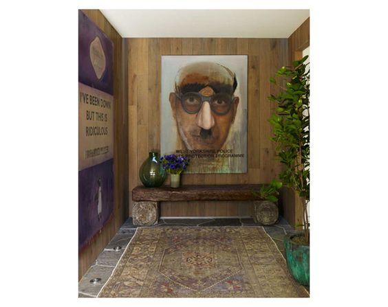 Contemporary Rustic Hallway, designed by Trip Haenisch & Assoc.