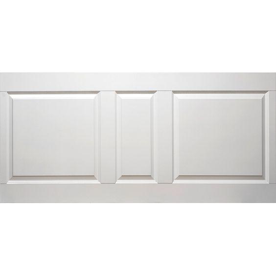 Panel Solliden Stilren formpressad och vitlackad panelskiva i HDF ...