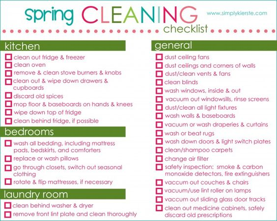 Spring cleaning cleaning and spring cleaning checklist on What month is spring cleaning