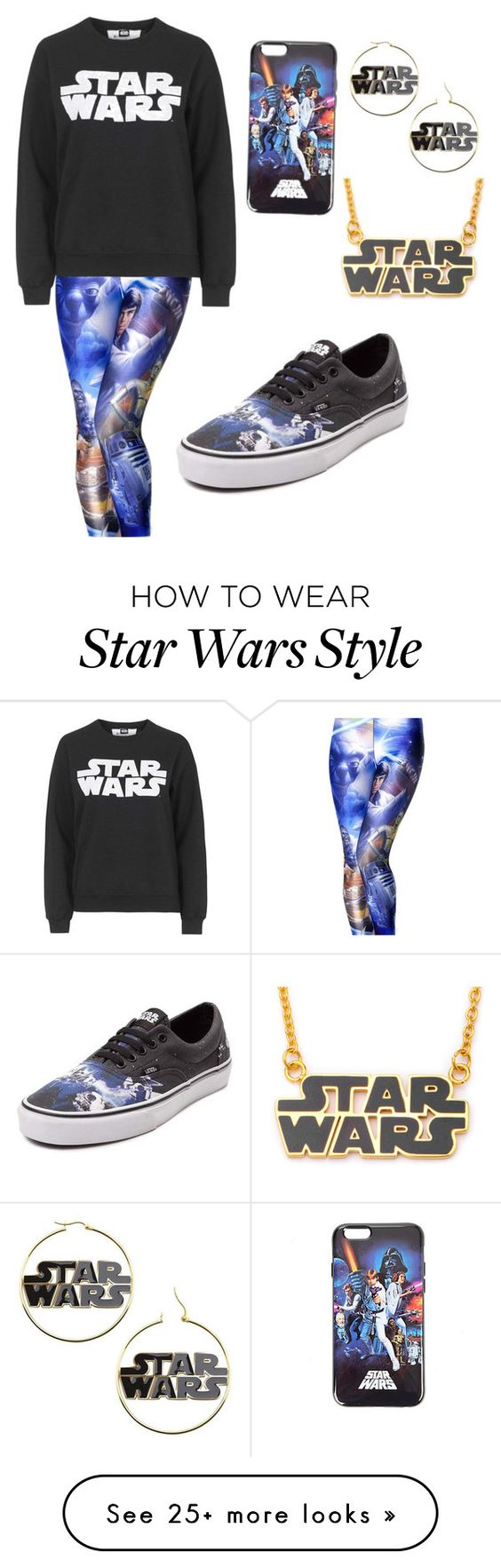 """Star Wars"" by nezidance on Polyvore featuring Topshop and Vans"