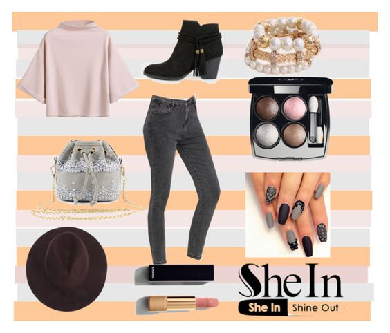 """""""shein hat"""" by beautxful-galaxies ❤ liked on Polyvore featuring Chanel"""