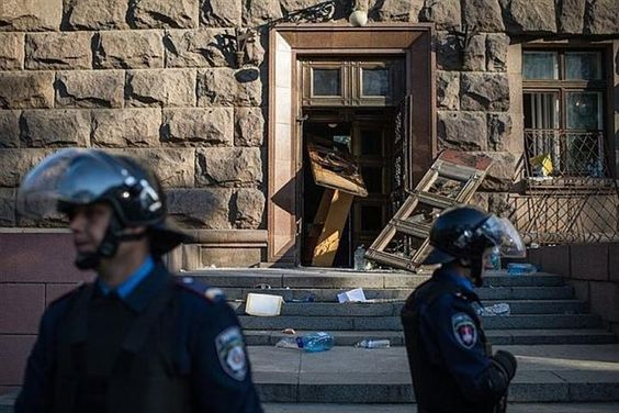 Взрив избухна в банка в центъра на Одеса