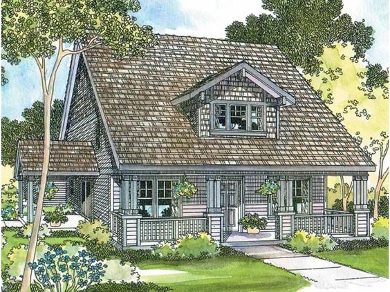 Cottage Home Features I Like Pinterest Craftsman House Plans
