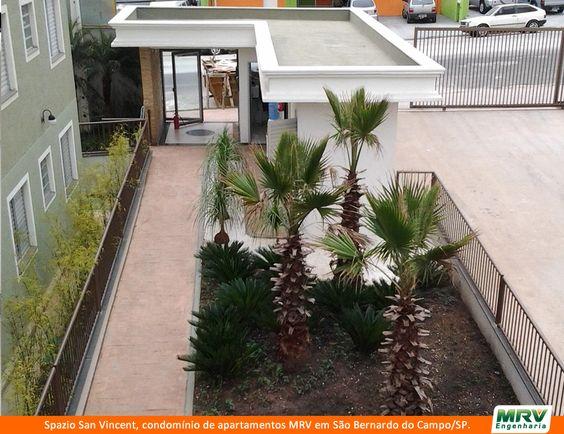 Entrada do Spazio San Vincent. Condomínio de apartamentos de 2 dormitórios em São Bernardo do Campo/SP.