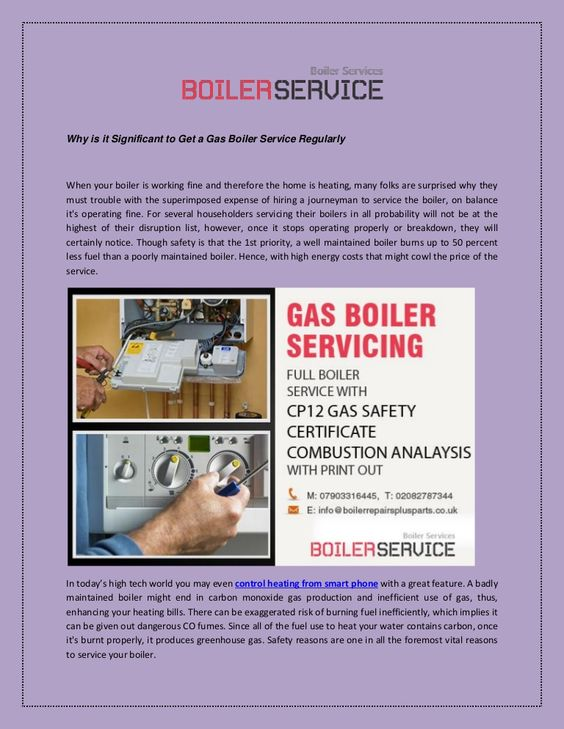 Most people don't pay a lot of attention to issues in their boilers. These are not only inconvenient, but they can be very unsafe as well. The best way to make sure that the boiler is working correctly is regular boiler servicing. Below given article outlines the significant security measures - http://goo.gl/lQ2ksr