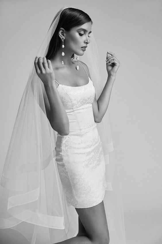 wedding dresses,  covid-wedding, micro wedding, elopement, short wedding dress