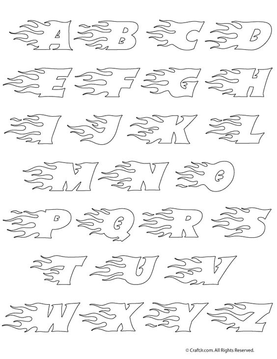 Flaming Text Printable Lettering And Free Font Flaming Letter Set