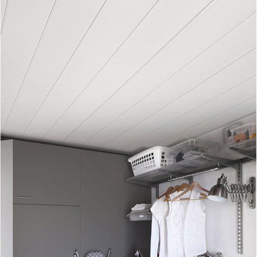 Lambris Pvc Blanc Brut Grosfillex L 400 X L 37 5 Cm X Ep 8 Mm Lambris Pvc Blanc Lambris Pvc Pvc Plafond