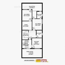 Floor Plans For 20 60 House Awesome Cool House Plan In 20 60 Plot Best House Plan In 20 60 Plot Best House Plans House Plans Simple House Plans