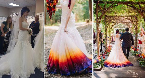 La Belle Cerise: Durant son mariage Elle a osé peindre sa robe de mariage…