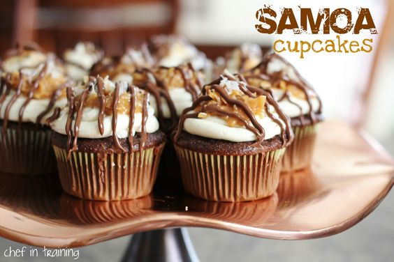Samoa Cupcakes   chef in training