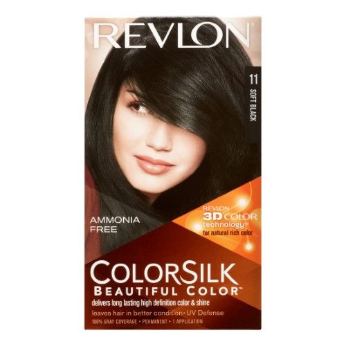 Revlon Colorsilk Hair Color Soft Black Permanent Hair Color