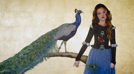 "Saatchi Art Artist: Titti Garelli; Acrylic 2013 Painting ""Pavonia"":"