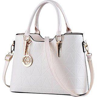 Baymate Damen Klassisch Handtaschen Prägung Leder Schultertasche mit…