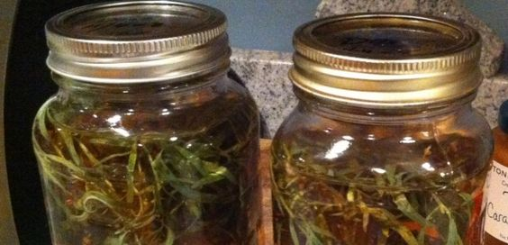 Homemade Herb Vinegar It makes a great gift and it's easy to do.