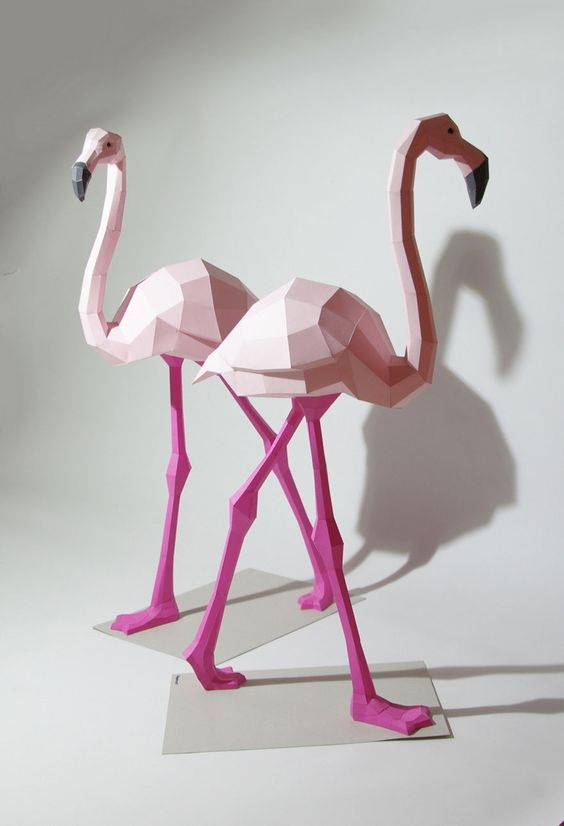 Esculturas 3D hechas de papel