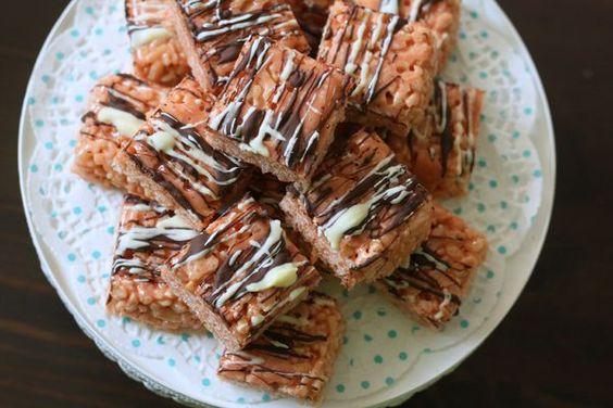 carrés de riz soufflé aux marshmallow et beurre de cacahuètes blog chez requia cuisine et confidences