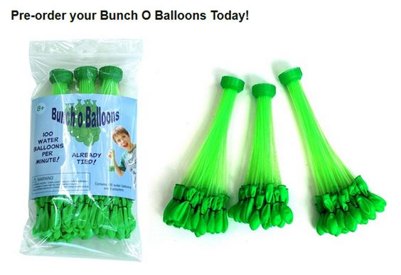 Pre-Order Your Bunch O Balloons Today! couponsmatter.com