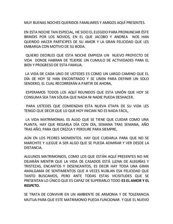 Pin De Oswaldo Rafael En Boda Brindis De Boda Discurso Boda Lecturas De Boda
