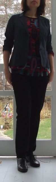 patterned shirt w jacket