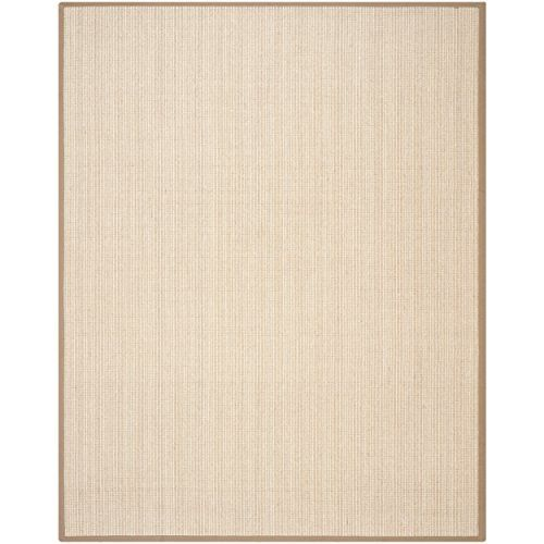 Safavieh Natural Fiber Collection NF442D Handmade Tan and Tan Sisal Area Rug, 9 feet by 12 feet (9′ x 12′) #handmade The Safavieh Natural Fibers Collection uses premium, natural fibers to create beautiful, modern rugs.  These rugs are hand-woven of 100% natural seagrass.  The cotton backing adds durability, and protects your floors. These modern rugs will add a chic accent to your home. These rugs are made of natural materials such as jute, sissal, and sea grass These rugs are made o..