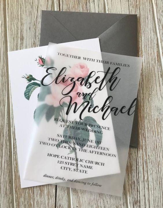 El grabado en la invitación