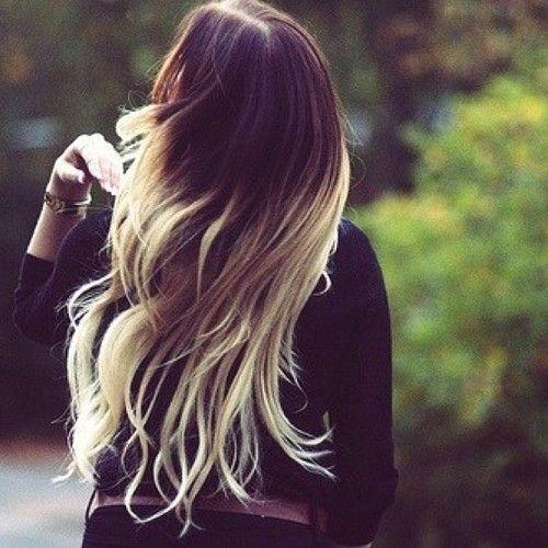 Dark brown to platinum blonde ombre hair pinterest for Blond braun ombre