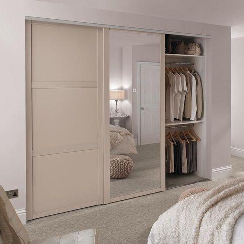 Shaker Cashmere Panel Sliding Wardrobe Door Howdens Sliding Wardrobe Doors Sliding Wardrobe Wardrobe Doors