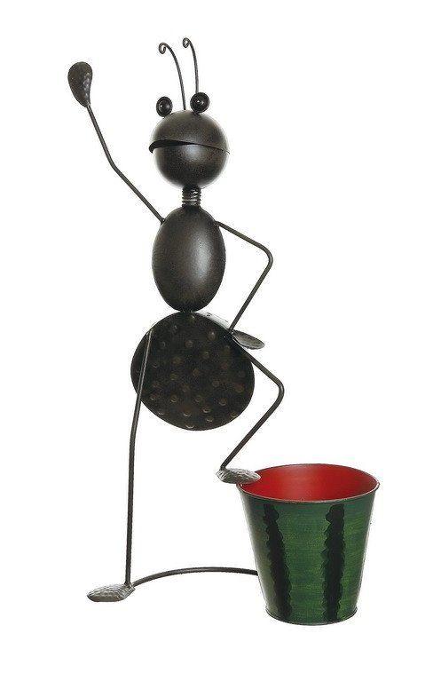 "26"" Espresso Brown Standing Garden Ant Decorative Spring Outdoor Planter"