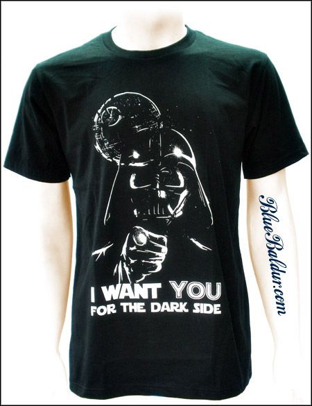 Darth Vader T-shirt: I WANT YOU FOR THE DARK SIDE