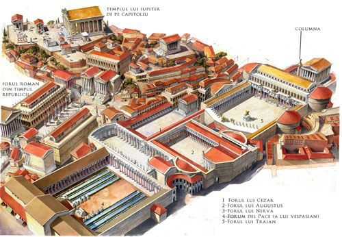 Illustration of Trajan's Forum (Rome, Italy) | Radu Oltean (Bucharest), Illustrator for Kogainon Films