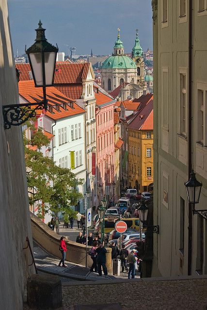 Neruda street in Prague, Czech Republic (by jamretsam324).: Travel Photos, Besttravelphotos Prague, Republic Photography, Prague Czech Republic, Prague Neruda, Neruda Street