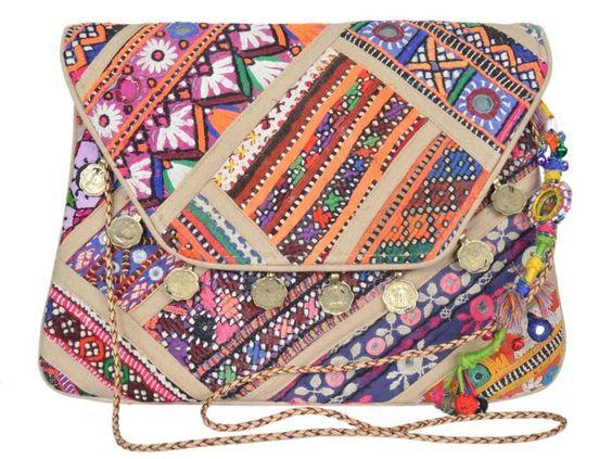 "Banjara clutch 8""x13"" Vintage purse Messenger Cross body Bag Handicraft ID14842 #JAIPURTEXTILES #Clutch"