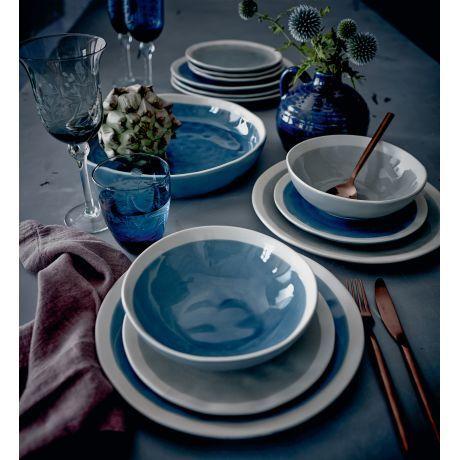 Suppenschale, Craquelé-Look, Landhausstil, Keramik, glasiert Vorderansicht