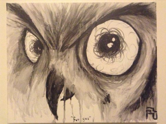 First of my series of animal drip paintings. Medium: acrylic  -Monty
