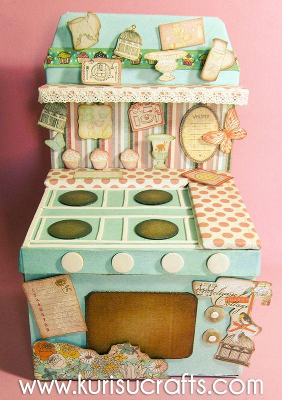 Kurisu crafts caja recetario cocina vintage cajas - Cajas para cocina ...