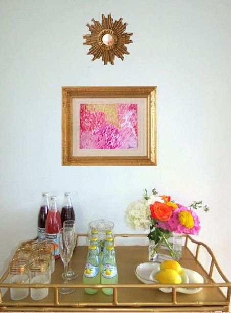 Banff Poppies and Roses No. 17 Pink and Orange Acrylic Abstract Flower Painting on Canvas ART