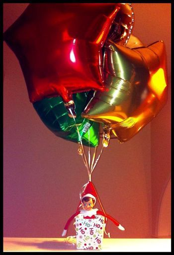 Emily cassey this would be cute to do elf on the for Elf on the shelf balloon ride